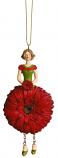 Gerbera meisje rood hangend 12cm