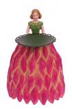 Dahlia meisje kaarsenhouder 16cm