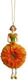 Gerbera meisje oranje hangend 12cm