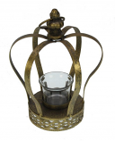 Waxinelichthouder kroon goudkleurig