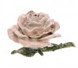 Doosje Roos roze met strass 6cm