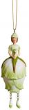 Rozenknop meisje wit/licht groen hangend 12cm