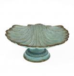 Schaaltje schelp turquoise 10,5x9,8x4cm