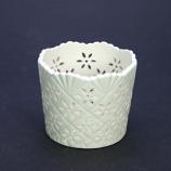 Theelichtje creamware kantrand 7,5cm